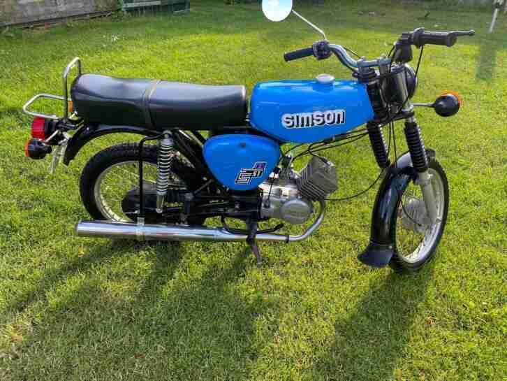 Simson S51 Elektronik Bj.1988,teilrestauriert und Versichert .div.Neuteile