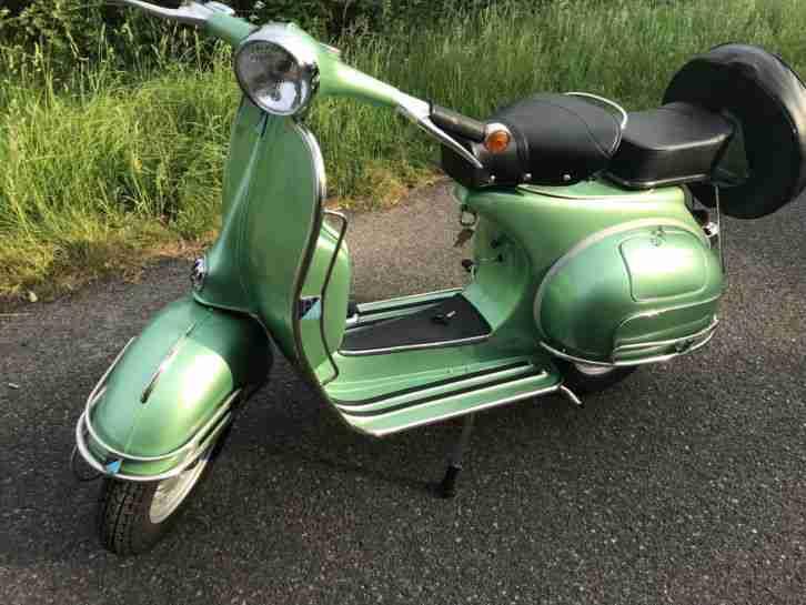 150 CC VESPA PIAGGIO MOTORROLLER AUFWENDIG RESTAURIERT ,DEUTSCHE PAPIERE