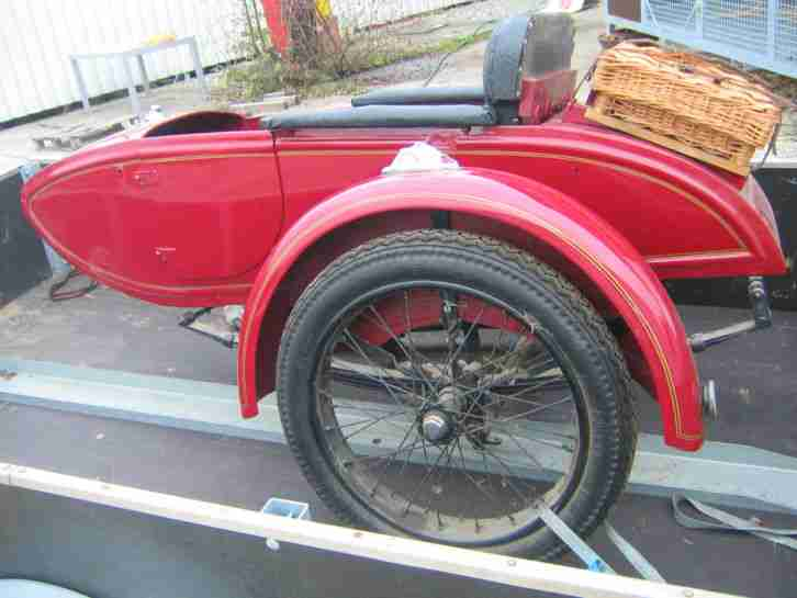 1927 INDIAN HARLEY MOTORCYCLE SIDECAR