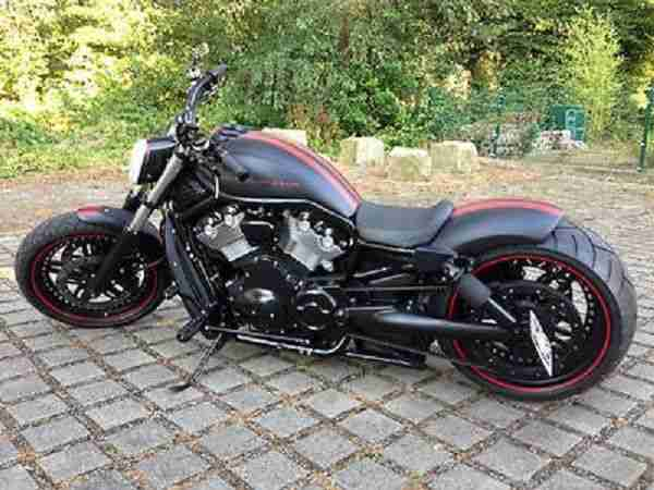 2005 harley davidson v rod ricks umbau chopper bestes. Black Bedroom Furniture Sets. Home Design Ideas