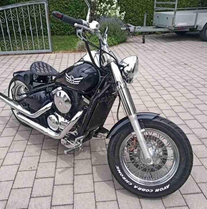 Kawasaki VN 800 Bobber Umbau alles eingetragen sehr schöner Zustand