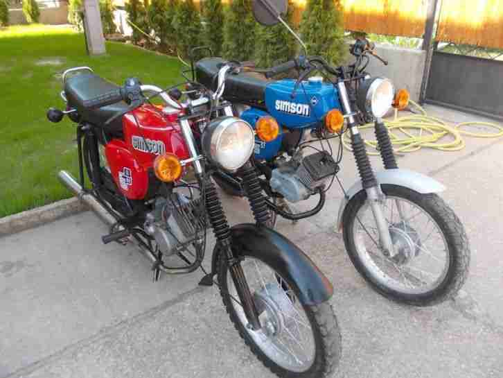 2x simson s51 oldtimer kult moped ddr top bestes. Black Bedroom Furniture Sets. Home Design Ideas