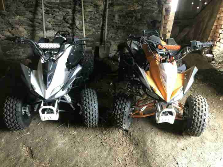 ZWEI Quads NITRO ATV Kinderquad Pocketquad Quad, 50ccm, 4 Gang, ZUM HERRICHTEN