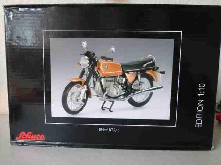 Achtung:Schuco Motorradmodel BMW R75 6 1:10 OVP