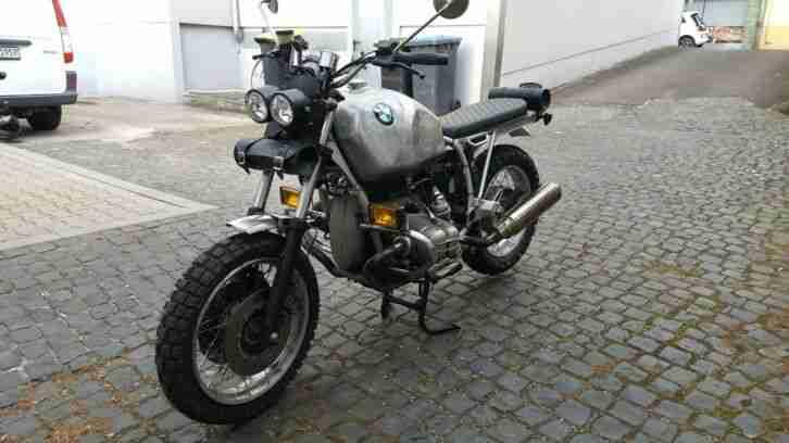 BMW R 80 R Cafe Racer Scrambler sehr schöner Umbau Bj.95 54000 Km 2 Jahre Tüv