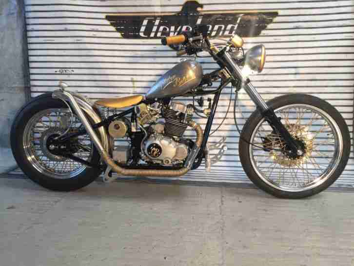 Custom Old school Golden Bobber 250 ccm NEU Straßenzulassung by Scott Colosimo