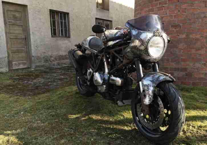 Ducati 750, Superbike, Ratbike, Cafe Racer, Streefighter, Ratte derbes Teil