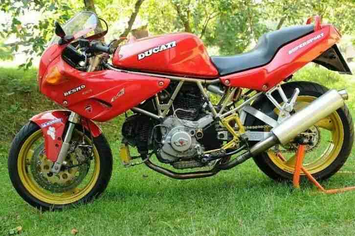 Ducati 900 SS Orginal Nuda oder Carenata rot mit weiser Schrift Bj 94 , Top !