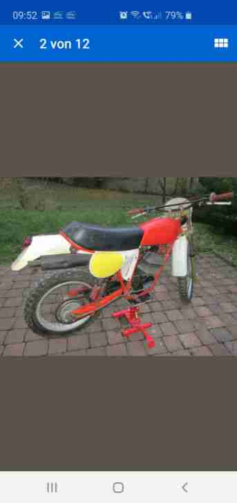 Enduro PUCH Frigerio GS 250 F2, ca. 1978, ohne Brief, originale Patina