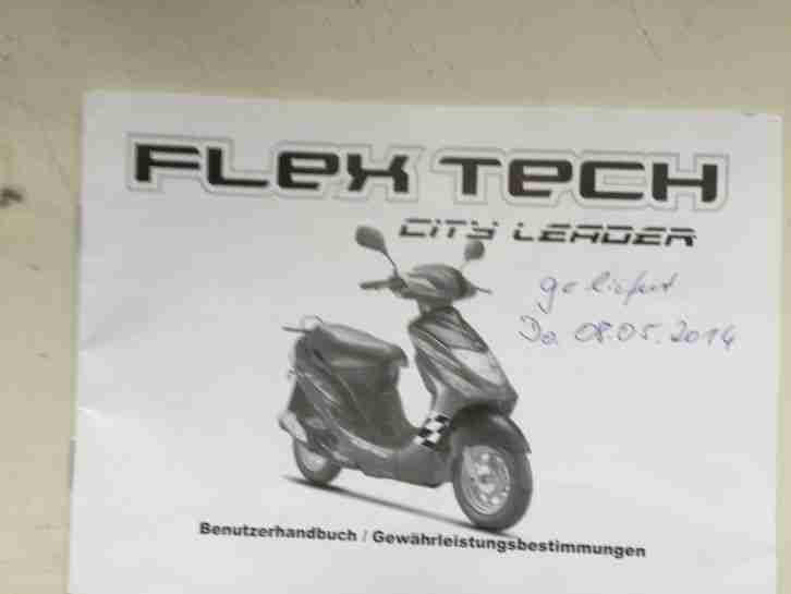 flex tech city leader 4 taktroller mit topcase bestes angebot von roller