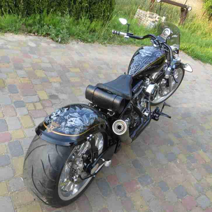 harley bobber old school custom bike bestes angebot von. Black Bedroom Furniture Sets. Home Design Ideas
