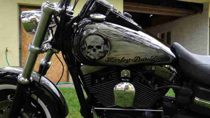 Harley Davidson 2008 FAT BOB Getriebe schwarzer Block wie Night Train
