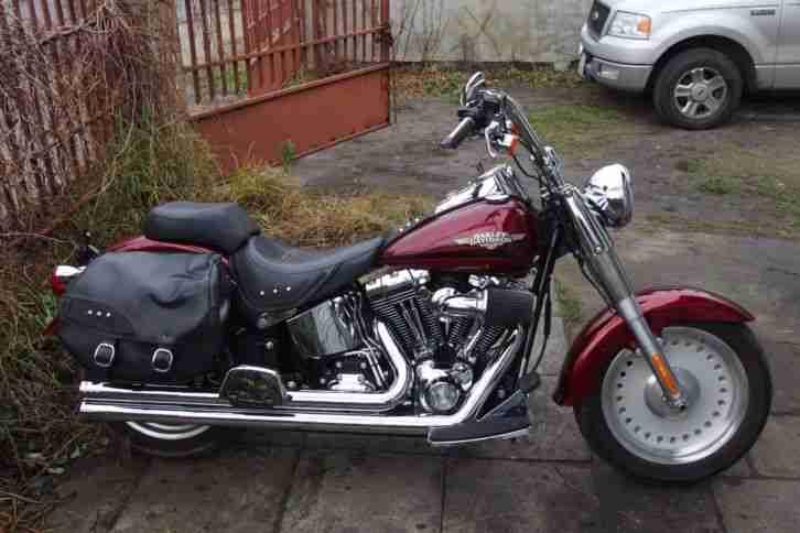 Harley Davidson 2009 Fat Boy FLSTF 1600 Softail 6 speed 200 reifen Heritage