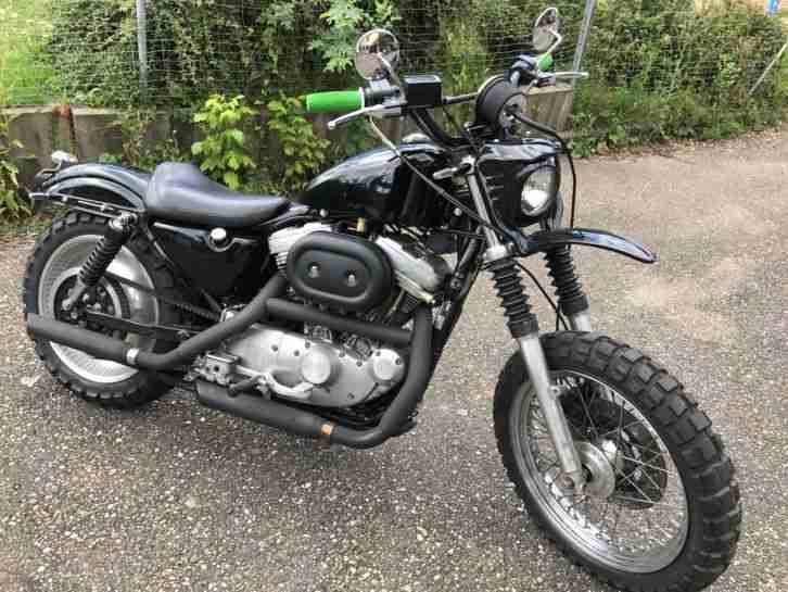 Harley Davidson 883er XLH Sportster im Cross Style TÜV neu Bobber Cafe Racer