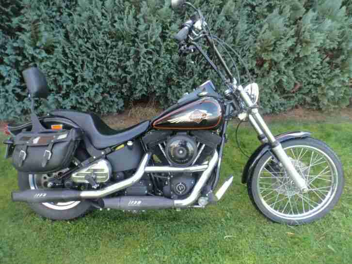 Harley Davidson Chopper EVO Softail Bj. 1998 Supertrap Auspuff