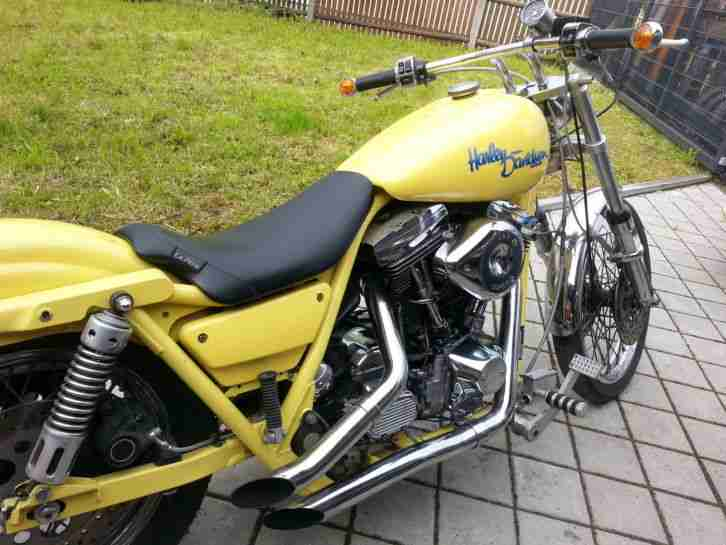 Harley Davidson Custom Chopper FXR EVO Big Twin Motor 1340 ccm HD Klassiker