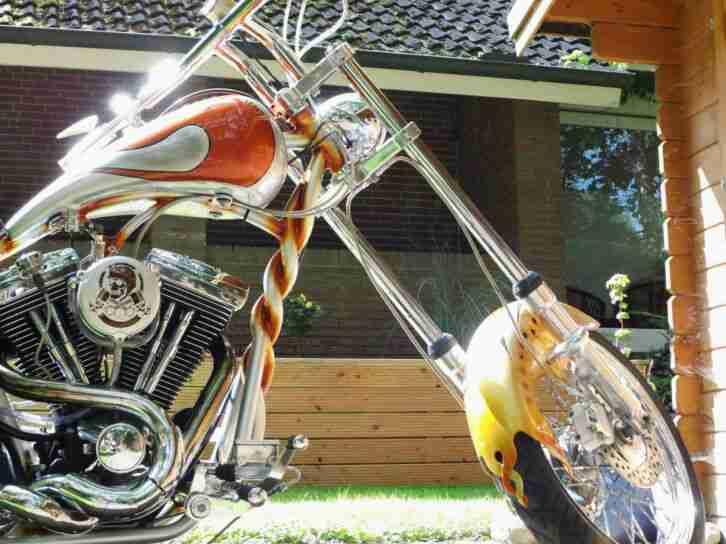 Harley Davidson Evo im twisted Frame Starrahmen ,Einzelstück,Sammler Motorrad