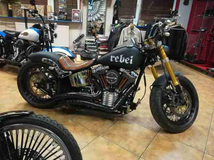 Harley Davidson FXSTC Softail Custom, Einzelstück Wie Neu Fireweed Inc.