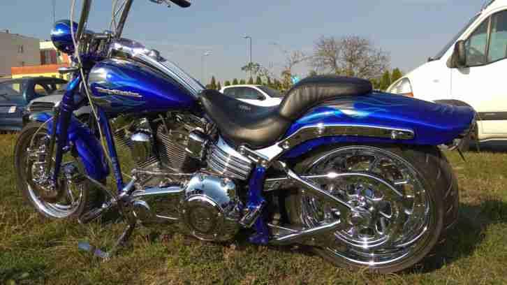 Harley Davidson FXSTSSE3 2009 CVO Springer Candy Cobalt Blue
