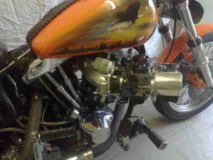 Harley Davidson Shovelhead mit Doppelvergaser ,Wertanlage