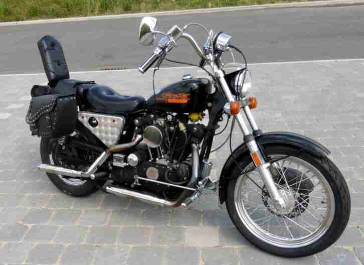 harley davidson sportster ironhead xl 2 chopper. Black Bedroom Furniture Sets. Home Design Ideas
