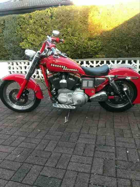 Harley Davidson Sportster Unikat rot 1.200 ccm
