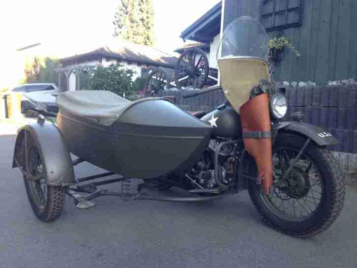 Harley Davidson WLA WL WLC Gespann Flathaed 45 WLA Beiwagen