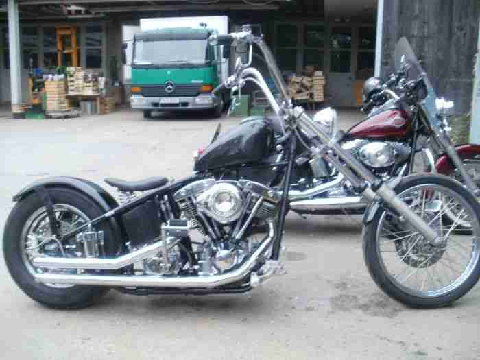 Harley EL Starrahmen old school Chopper `38