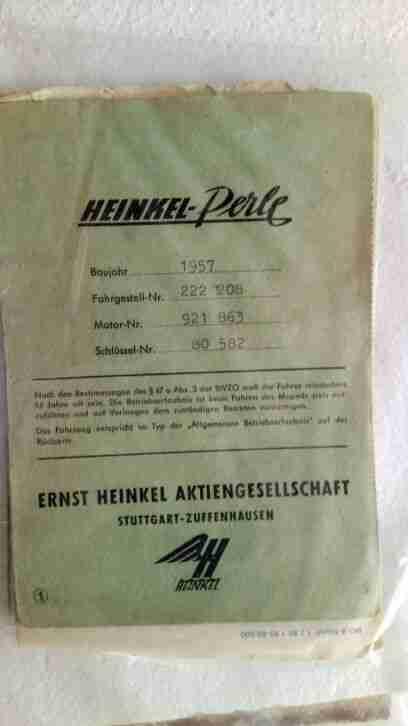 Heinkel Moped Bj. 57 zerlegt
