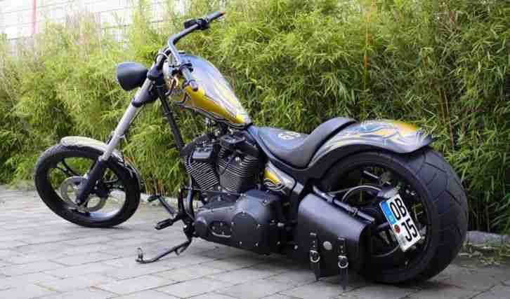High Neck Chopper House of Thunder nehme alte Harley Davidson in Zahlung (-1940)