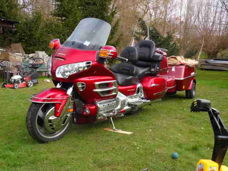 honda goldwing 1800 se mit h nger 99000 km mit bestes. Black Bedroom Furniture Sets. Home Design Ideas
