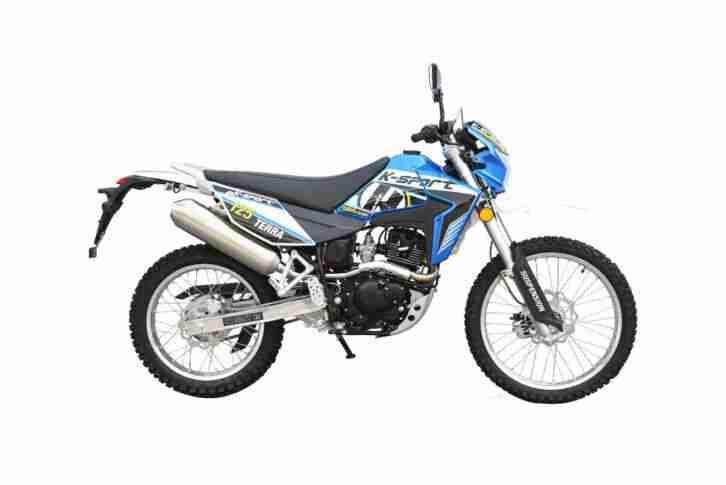 K Sport Terra Motorrad 125 ccm Crossbike EURO 4 Blau Weiß
