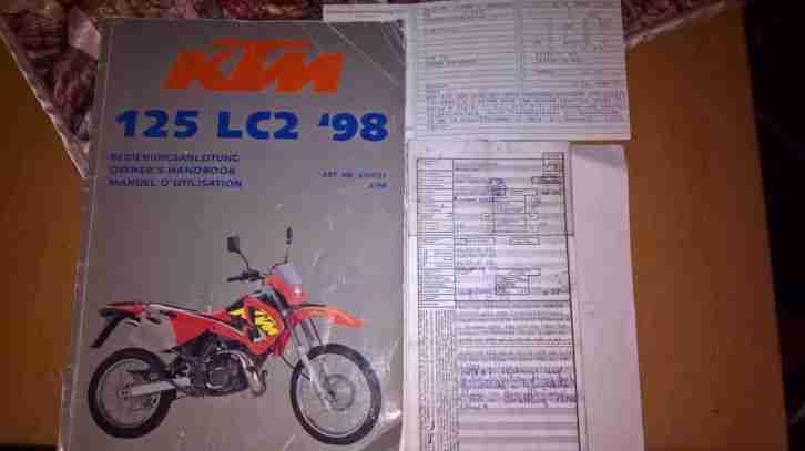 KTM 125 LC 2 Enduro keine Cagiva W8 Yamaha DT 125 MTX 125 Klr 125 2 Takter