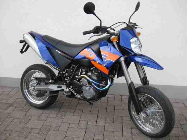 KTM 640 LC4 Supermoto blau 2 Sitzer E Starter EZ 04 2006 19.397 km Schnäpchen