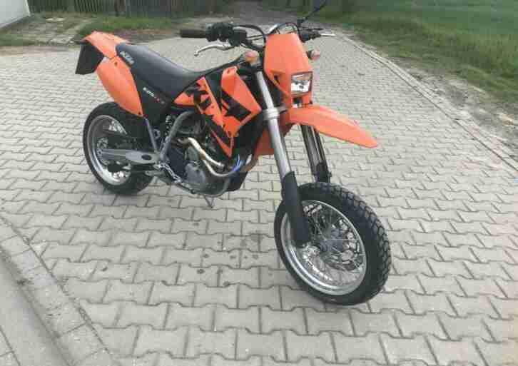 KTM LC4 625 4T EGS Super Moto Enduro Cross Motorrad TÜV neu 6384 KM