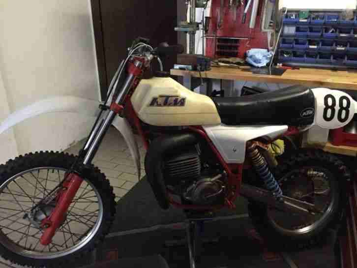 KTM Oldtimer Motocross Motorrad KTM SX 250 Bj. 1980 unverbastelt fahrbereit