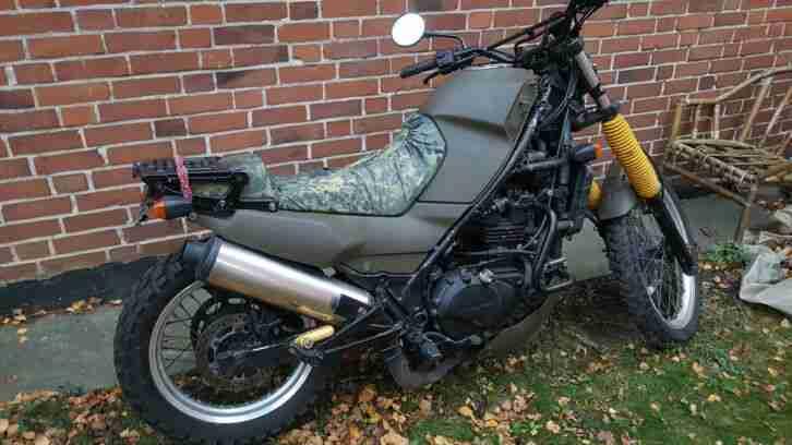 Kawasaki KLE 500 Military Look Umbau an Bastler Tüv 11 2020