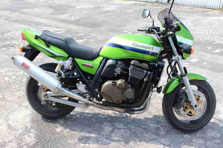 Kawasaki ZRX 1200 R in Kawa Grün Metallic Top Zustand