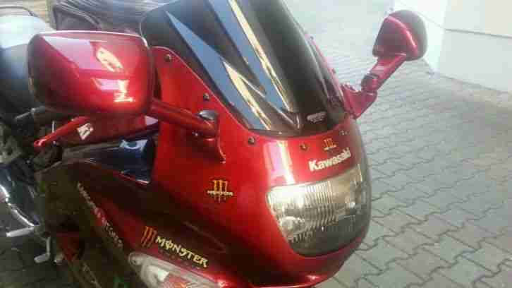 Kawsaki ZZR 600E Bj.97 (wg. Krankheit) topp Moped,mit sinnvollen Extras Gratis