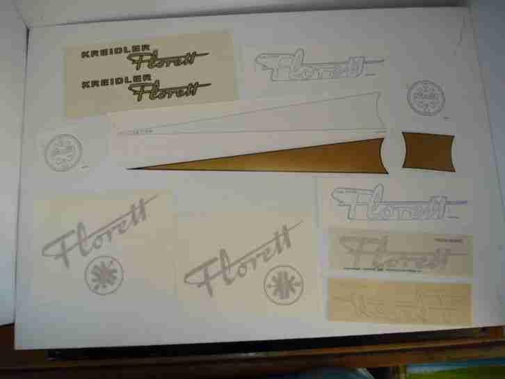 Kreidler Florett K54 Konvolut Tankaufkleber