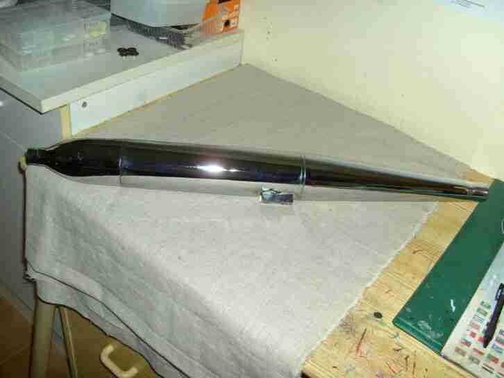 Kreidler Florett Zigarrenauspuff 28 mm mit Halter K54,RM,RS