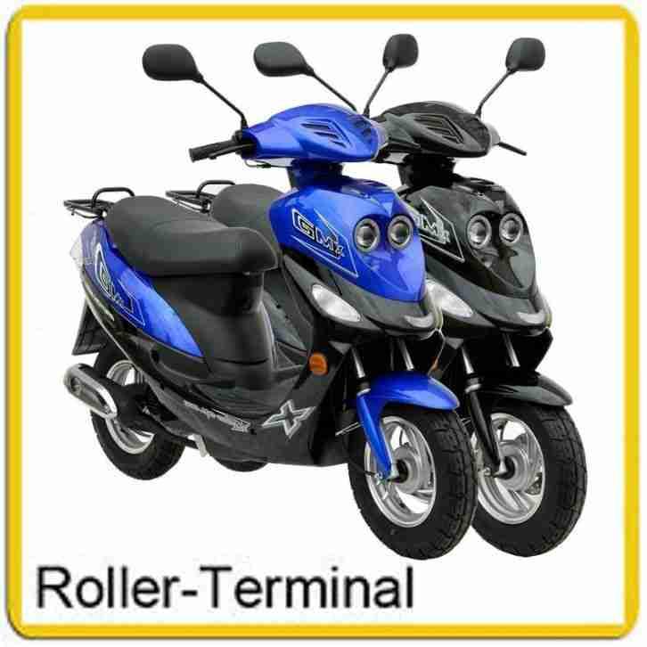 mofa gmx 550c 25km h roller motorroller scooter bestes. Black Bedroom Furniture Sets. Home Design Ideas