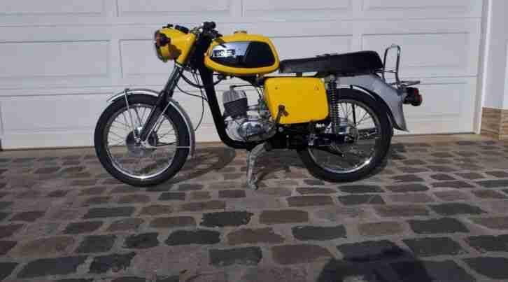 MZ TS125 Gelb 1975 restauriert