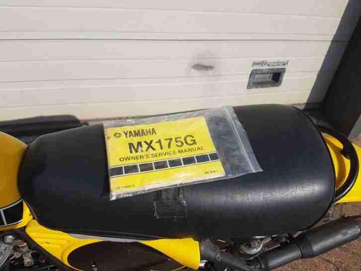 Moto Cross Klassiker Yamaha MX 175G, USA, gelb, original, Sammlerstück, komplett