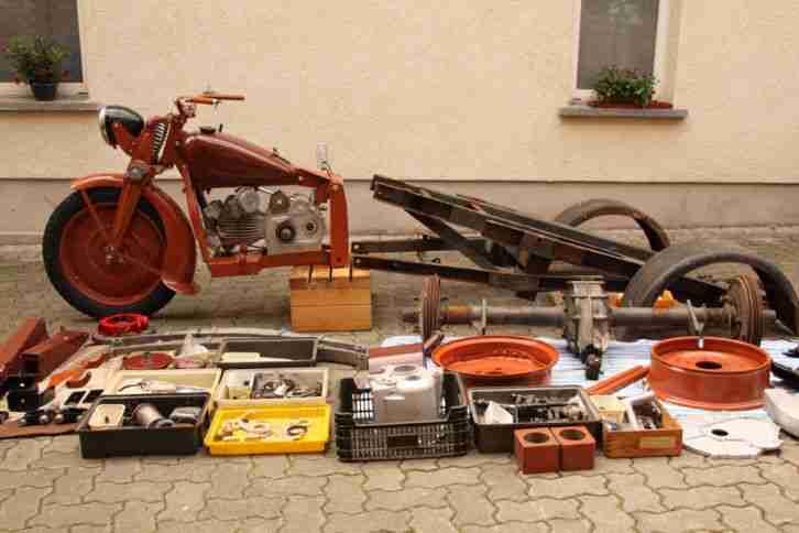 Moto Guzzi Ercole teilrestauriert