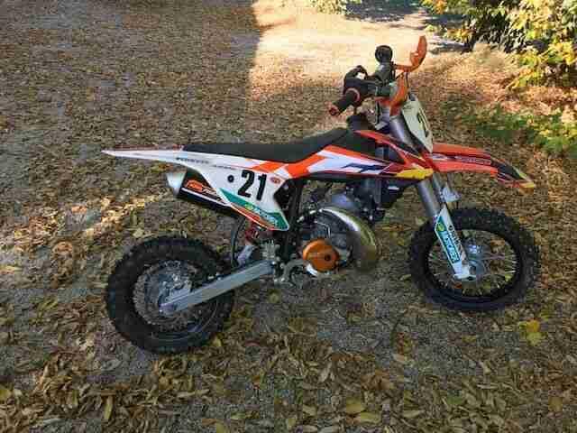 Motocross Motorrad Kinder KTM SX50 Junior