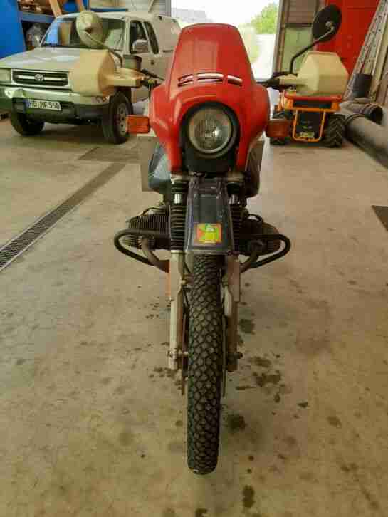 Motorrad BMW R 80 GS Koffer 95 000 KM bj 1983 2007 Stillgelegt 1 Hand