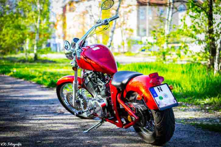 Motorrad Custom Chopper 250 Hi bird Harley