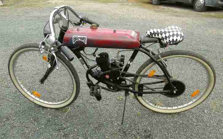 motorrad fahrrad eigenbau umbau 80 ccm 75 km h bestes. Black Bedroom Furniture Sets. Home Design Ideas