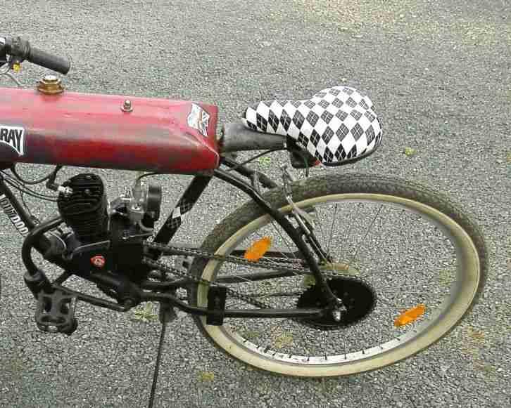 motorrad fahrrad eigenbau umbau 80 ccm 75 km h bestes angebot von old und youngtimer. Black Bedroom Furniture Sets. Home Design Ideas